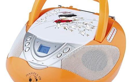 Radiopřijímač s CD GoGEN Maxipes Fík MAXI RADIO O oranžový