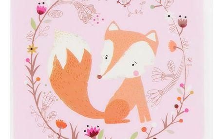 sass & belle Krabička na svačinu Fox, růžová barva, plast