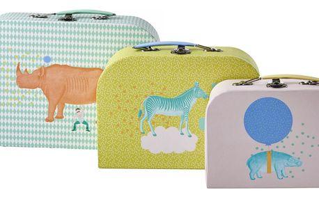 rice Kufřík Animals - 3 velikosti Limetkový M, multi barva, papír