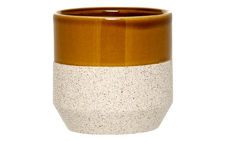 Bloomingville Květináč Sand/curry, oranžová barva, béžová barva, keramika
