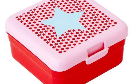 rice Krabička na svačinu Girls star small, červená barva, plast