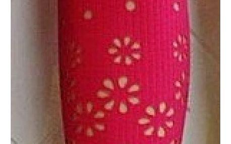 Tříčtvrteční legíny s kytičkami - Růžová - velikost č. 4