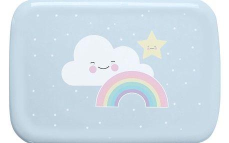 EEF lillemor Mini krabička na svačinu Rainbow, modrá barva, plast