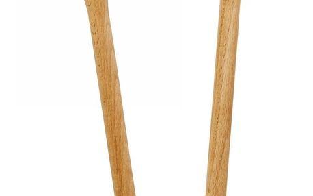 rice Dřevěná vařečka Smiling Face - dvě varianty Se žlutým poutkem, hnědá barva, dřevo