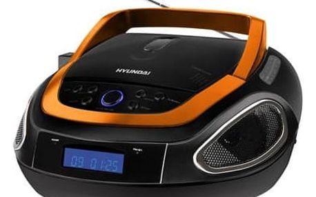 Radiopřijímač Hyundai TRC512AU3O černý/oranžový