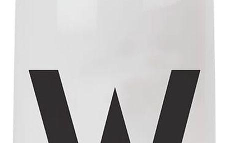 DESIGN LETTERS Lahev na vodu Letters A, černá barva, bílá barva, plast
