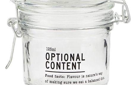 house doctor Skleněná dóza Optional Content 125 ml, čirá barva, sklo