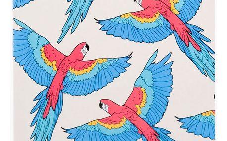 Woouf! Notýsek Papagayo A6, červená barva, modrá barva, bílá barva, papír