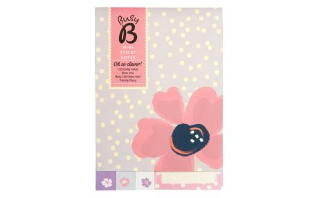 Busy B Sada lepítek Floral, fialová barva, papír