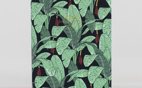 Woouf! Notýsek Jungle A6, zelená barva, černá barva, papír