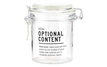 house doctor Skleněná dóza Optional Content 250 ml, čirá barva, sklo