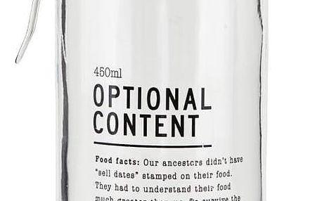 house doctor Skleněná dóza Optional Content 450 ml, čirá barva, sklo