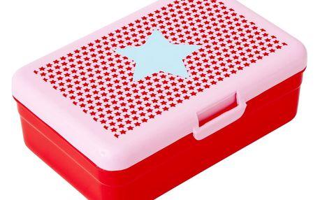 rice Krabička na svačinu Girls star, červená barva, modrá barva, plast