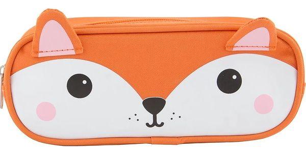 sass & belle Pouzdro na psací potřeby Fox, oranžová barva, bílá barva, textil