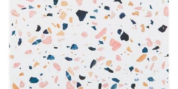 Woouf! Notes White Terrazzo A5, bílá barva, multi barva, papír
