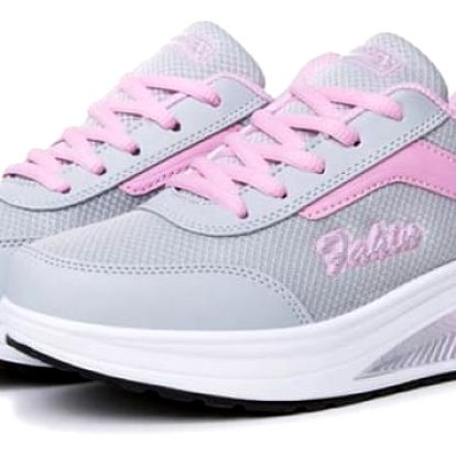 Dámská sportovní obuv s vyšší podrážkou - světle růžové, vel. 36 - dodání do 2 dnů