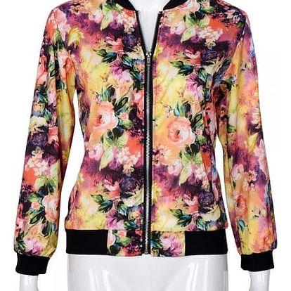 Dámská bunda s květinovým vzorem-velikost č. 6