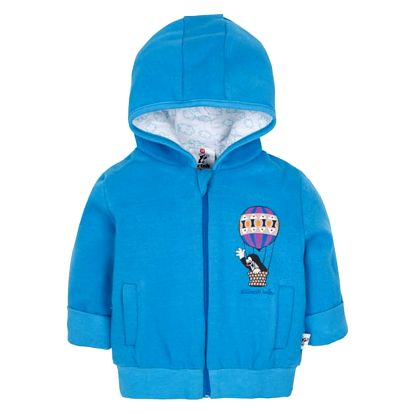 G-MINI Mikina s kapucí Krteček a balón A (vel. 86) - modrá