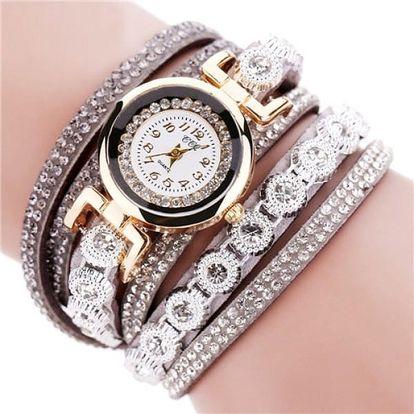 Dámské zdobené hodinky - 11 barev