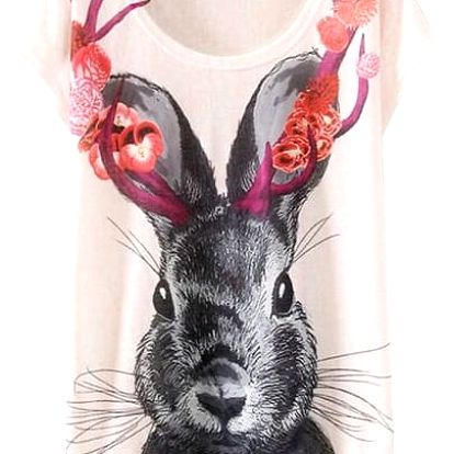 Volné dámské tričko s barevnými potisky - 21 variant