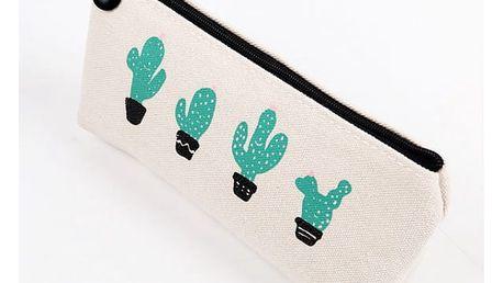Roztomilý penál s kaktusy - 3 varianty