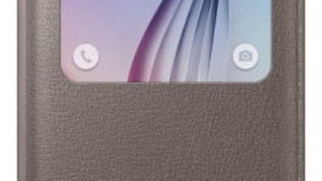 Pouzdro na mobil flipové Samsung pro Galaxy S6 (EF-CG920PF) (EF-CG920PFEGWW) hnědé