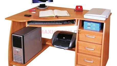 MEBLOLUX Pc stůl JOCKER / levý MEBLOLUX MX-7793, olše