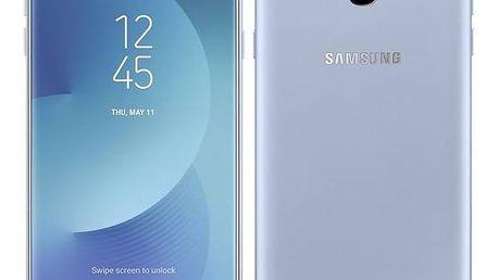 Mobilní telefon Samsung J7 2017 (J730F) (SM-J730FZSDETL) stříbrný SIM s kreditem T-Mobile 200Kč Twist Online Internet (zdarma) + Doprava zdarma