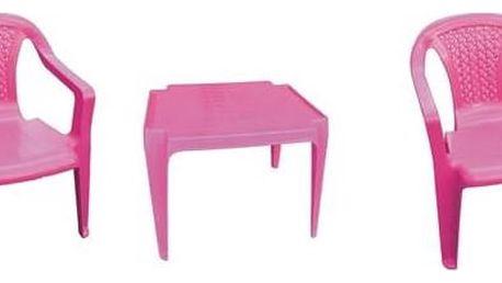Zahradní nábytek IPAE dětský - plast/růžový