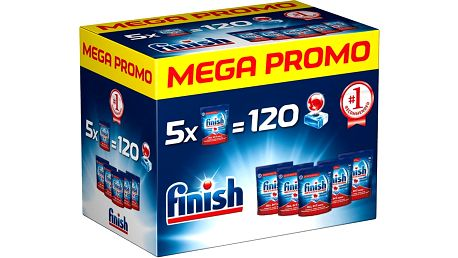 FINISH MEGA BOX Allin1 Max 120 ks - tablety do myčky