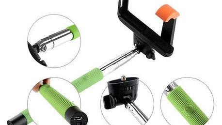 Selfie tyč GoGEN 2 teleskopická, bluetooth, zelená + Doprava zdarma