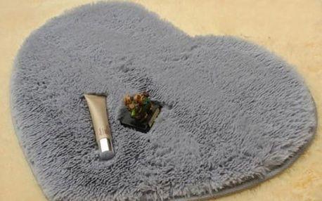 Kobereček ve tvaru srdce do koupelny - dodání do 2 dnů