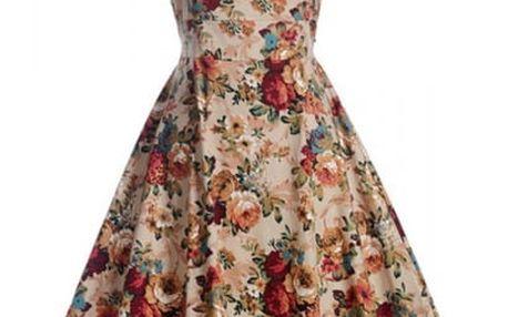 Květinové retro šaty z 50. let - varianta 11, velikost 3