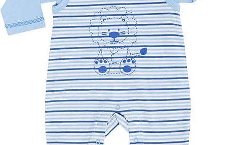JACKY Tričko + dupačky set Baby Boy, vel. 56 - modrá proužek, kluk