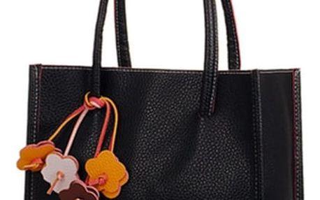 Retro kabelka do ruky - černá