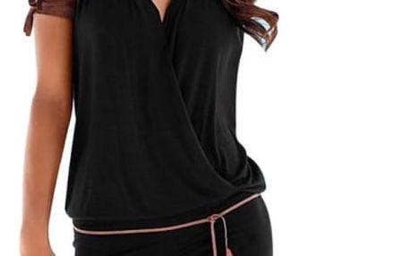 Elegantní šaty bez rukávů - Černá - velikost č. 4