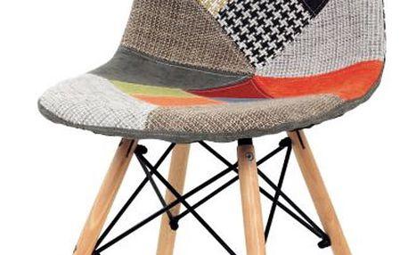 Jídelní židle patchwork / natural Autronic