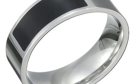 NFC chytrý prsten - stříbrná/černá barva