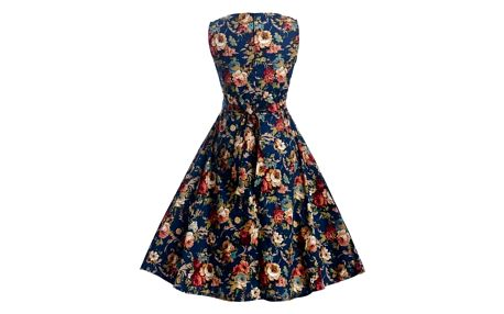Květinové retro šaty z 50. let - varianta 5, velikost 3