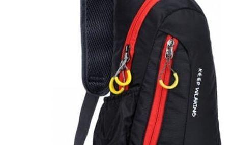 Dámský batoh přes jedno rameno na výlety - Černá