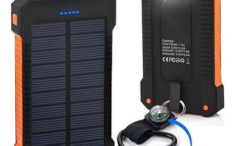 Voděodolná solární powerbanka 10000 mAh