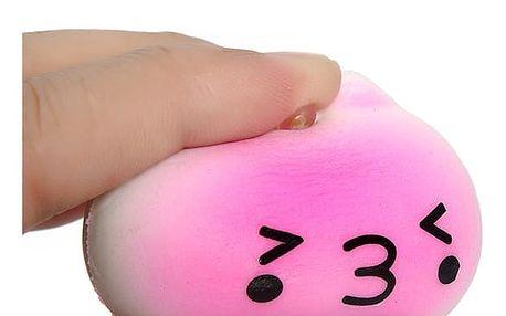 Antistresová mačkací hračka s háčkem na telefon