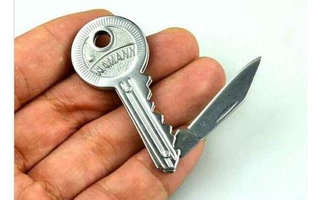Mini skládací nožík v podobě klíče