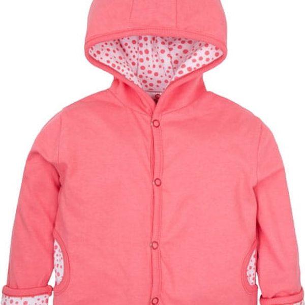 G-MINI Oboustranný kabátek Krteček a třešně B (vel. 80) - růžová