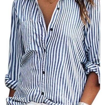 Pruhovaná dámská košile - 4 barvy