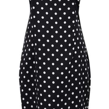 Elegantní dámské šaty s koženkovým zdobením na rameni-B-velikost č. 2