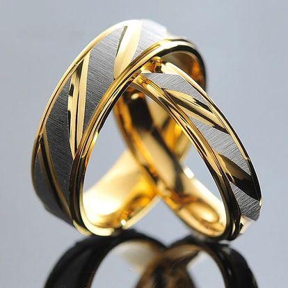 Snubní prsten - dámská i pánská verze- Pánský (6 mm), vel. 9