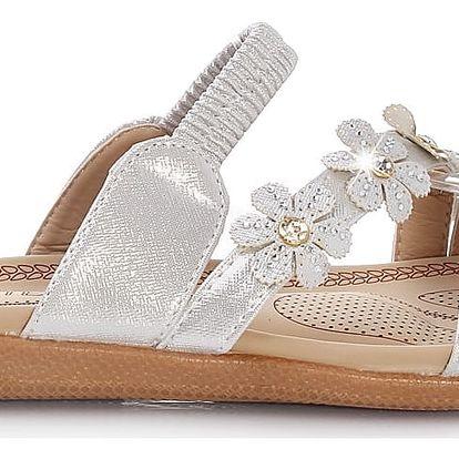 Dámské stříbrné pantofle HR61109B.SI.G 42