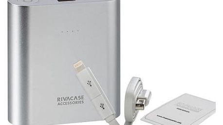 Power Bank RivaCase RivaPower VA1015 15000mAh (RP-VA1015) stříbrná