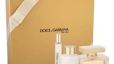 Dolce&Gabbana The One dárková kazeta pro ženy parfémovaná voda 75 ml + tělové mléko 100 ml + toaletní voda 7,4 ml